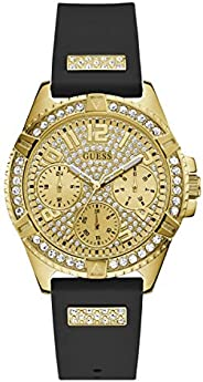 Guess Womens Quartz Watch, Analog Display and Rubber Strap, W1160L1