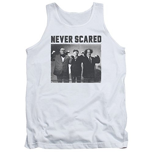 Three Stooges - - Débardeur Never Scared homme, XX-Large, White