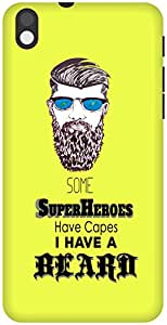 The Racoon Grip Super Beard hard plastic printed back case / cover for HTC Desire 816