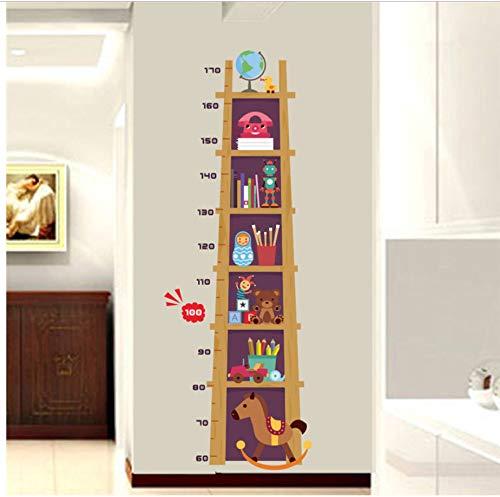 Kinder Höhe Maßnahme Wandaufkleber Für Kinderzimmer 3D Wirkung Schrank Wachstumstabelle Whiteboard Wandtattoos Kunst Poster 60X90 cm