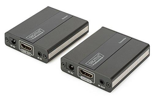 DIGITUS Professional DS-55101 - HDMI Extender - Full HD - Set (Sender/Empfänger) - bis zu 130 m Reichweite - Patchkabel (Cat 5, Cat 5e, Cat 6) - schwarz -