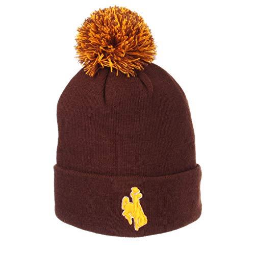 Zephyr Cuff Beanie Hat mit Pom Pom-NCAA Cuffed Winter Knit Toque Gap, Wyoming Cowboys - Pom Pom Cuffed Beanie