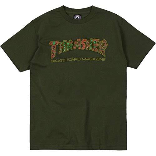 Thrasher t-shirt davis forest verde (m, verde)