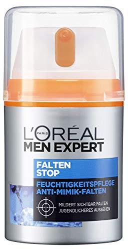 L\'Oréal Men Expert Falten Stop, Gesichtscreme, mit hochdosierter Anti-Aging Wirkung und Feuchtigkeitspflege Soforteffekt gegen Minik-Falten (50 ml)
