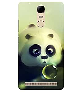 Chiraiyaa Designer Printed Premium Back Cover Case for Lenovo K5 Note (teddy bear boy girl friend valentine miss kiss heart bubble) (Multicolor)