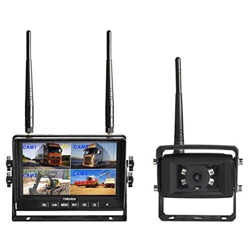 Haloview MC7101 Rückfahrkamera Wireless Monitor und Backup Kamera-Kit, IP 69K Wasserdicht Nachtsicht Rückseite Back up Auto-Kamera, 7 '' LCD Erbaut in DVR Monitor für Vans, Camping Cars, Trucks, Rvs -