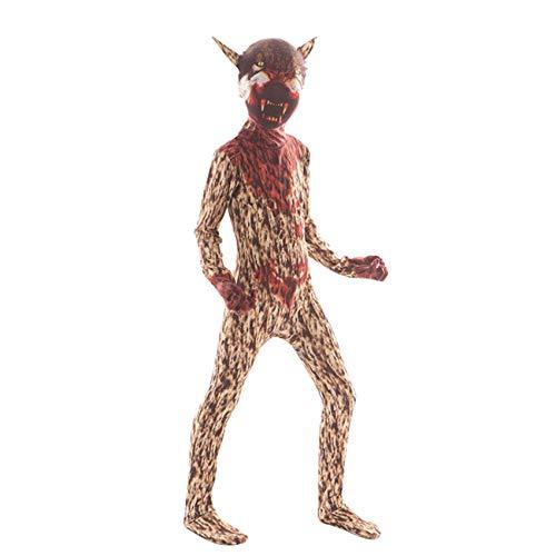 Horror Frankenstein Clown Halloween Kostüm für Kinder Gruseliger Dämon Purim Jungen Overall@04_5T (Dämon Kostüm Kind)