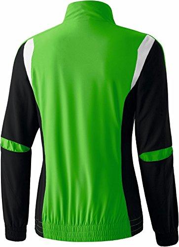 erima Damen Anzug Premium One Präsentationsjacke Green/Schwarz/Weiß