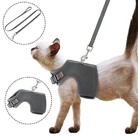 tao pipe Katzengeschirr Ausbruchsicher Geschirr Katzengarnitur Welpengeschirr Soft Ausbruchsicher Einstellbarer mit…