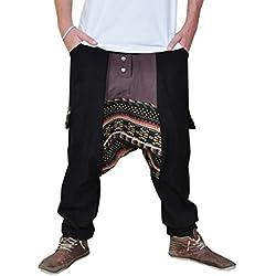 Pantalones cagados jersey largo en 2 colores con una entrepierna baja como ropa hippie y pantalones bombachos para trotar de virblatt M - XL – Abwechslungsreich