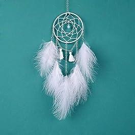 istary Moonlight Handmade Tassel Dream Catcher Tipo Piccolo Car Hanging Ornament Decorazione da Parete Wind Chime By