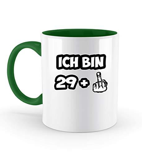 PlimPlom Ich bin 29 + Mittelfinger Tasse Zum 30 Geburtstag Spaßgeschenk Fun Kaffeetasse -...