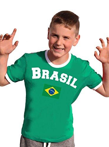 Brasilien T-Shirt Kinder Ringer gelb, 152
