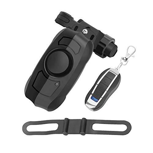 Sanmubo USB Wireless Fernalarm mit Mimi-Fernbedienung Fahrrad Diebstahlalarm mit 110 Dezibel Alarm für Fahrräder Elektrofahrzeuge Motorräder Türen und Fenster für den Hausschutz.