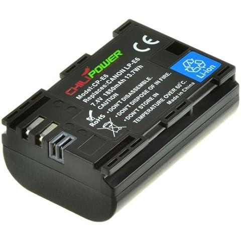 Original Chili Power Baterías LP-E6para Canon EOS 6d, EOS 7d, EOS 60d, EOS 60Da, EOS 70d, Canon EOS 5d Mark II, EOS 5d Mark