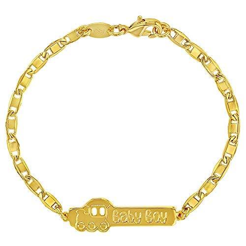Filles L/'identifiant d/'/étiquette Papillon Bracelet ID Argent 925//1000 15 cm /Émaill/é In Season Jewelry