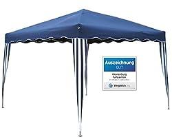 Kronenburg Falt Pavillon Dachmaß 3 x 3 m Gartenzelt Partyzelt in Blau - Auszeichnung GUT