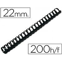 Q-Connect KF32116 - Pack de 50 canutillos, 22 mm, color negro