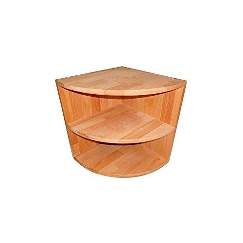 Isfort Holzhandels GmbH Eckkonsole aus Massivholz Buche geölt, Viertelregal mit Einlegeboden, Eckschrank, Echtes Holz