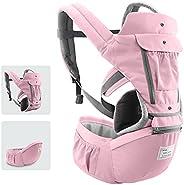 حامل للأطفال مع مقعد الورك تصميم قابل للفصل وقابل للتعديل جيوب جانبية مريحة متعددة الوظائف لسلامة الطفل الطفل