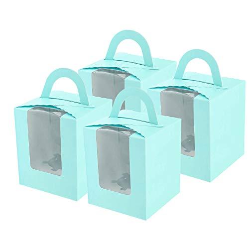 uchenboxen Muffin Kuchen Boxen Tortenbox mit PVC Fenster ()