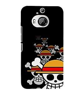 EPICCASE laughing skeleton Mobile Back Case Cover For HTC One M9 Plus (Designer Case)