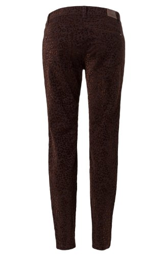 Olsen Leo Dana brownie- .14001121 Pantalon imprimé animal Marron - Brownie