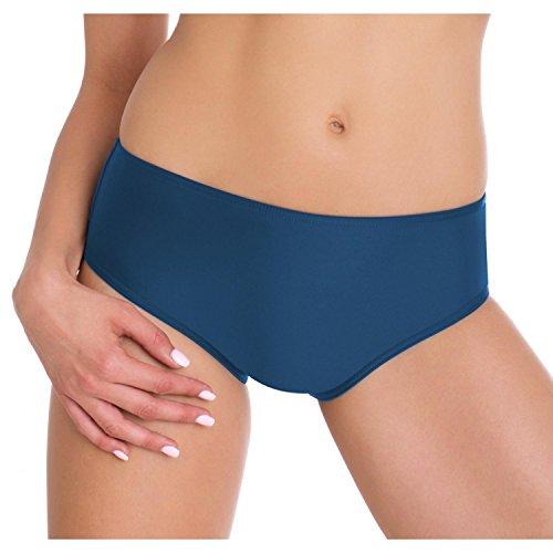 Aquarti Damen Bikini-Hose Hipster-Shorts Badehose, Farbe: Jeans, Größe: 46