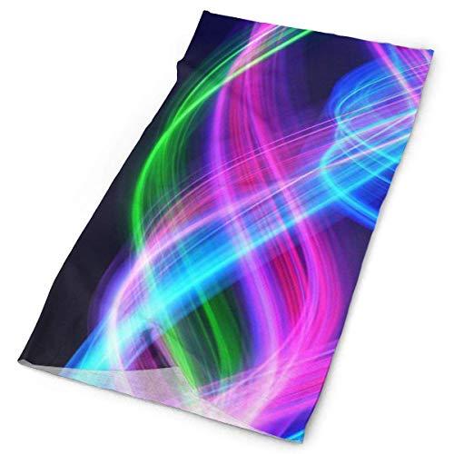Jolly2T Psychedelic Stripes Bandanna Headwear Neck Gaiters Variety Scarf Wrap Wide Stripe Beanie