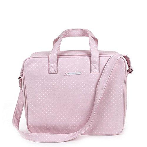 Pasito a pasito – Valise pour la clinique atelier en cuir synthétique rose avec Topito Blanc