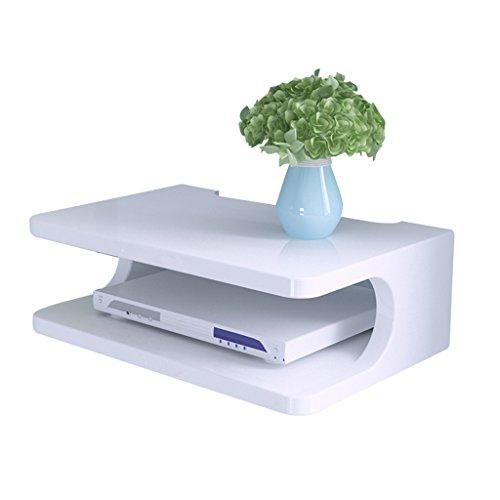 Ripiano del set-top box mobile porta tv mensola a muro per soggiorno parete divisoria per camera da letto (color : bianca, size : 30 * 20 * 10cm)