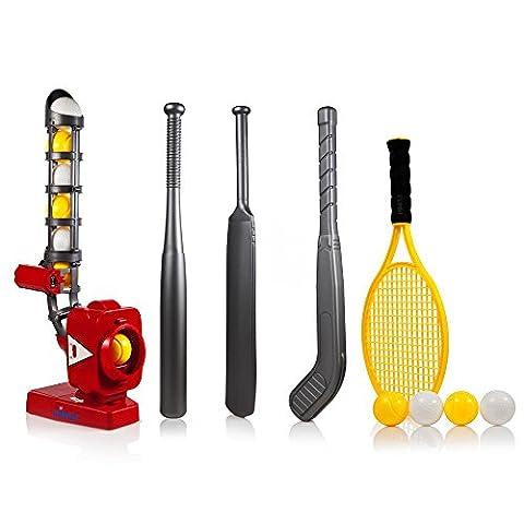 Sport 4en 1Machine de montage avec angle ajustable–Parfait pour enfant Dimple power-pro Formation Pichet pour 4jeux; Baseball, de Cricket, de tennis, de