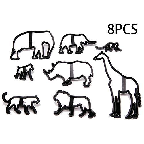 ier Elefant Giraffe Affe Form Fondant Kuchen Pressform Kuchen Umrandung Rand Biskuitform Keks Schneidform DIY Backform Kuchen Dekoration Werkzeug ()