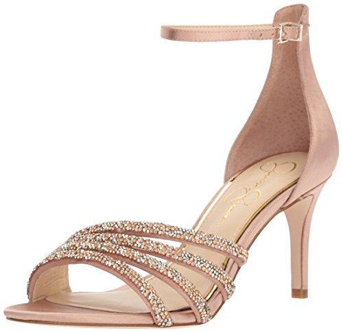 Jessica Simpson Damen PAVENY Sandalen mit Absatz, Nude Blush, 35.5 EU Blush Satin Schuhe