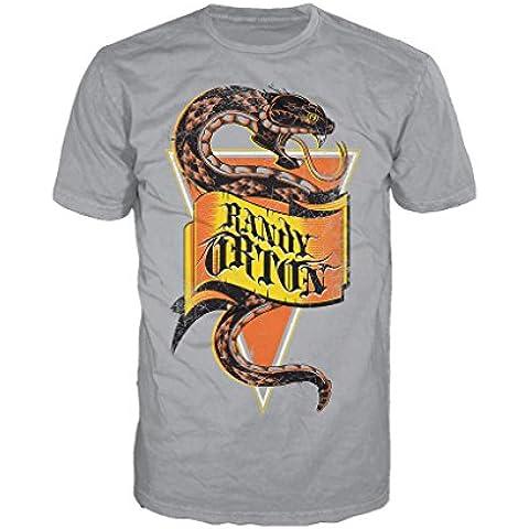 WWE Randy Orton Venom Logo oficial para hombre T Camisa (gris)