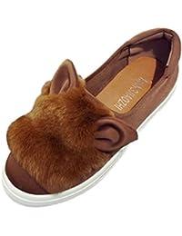 Tief, Einzelne Schuhe, Querbinder, Füße, Damenschuhe, Kaninchen Schuhe, Rosa, 38