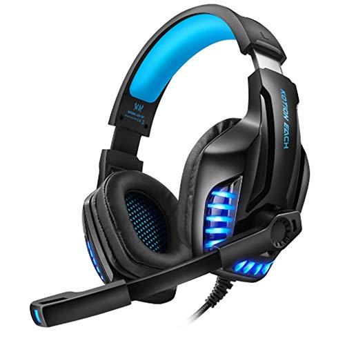 Headset G9100 3,5 mm Doppel-Terminal, verkabelt, PC-Spiele-Headset mit Mikrofon über dem Kopf, Gamer-Werkzeug für PC und Laptop -
