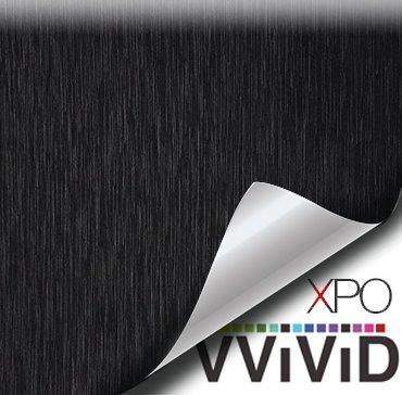 Preisvergleich Produktbild vvividã Â ® Schwarz Stahl gebürstet 5ft x 1ft New Vinyl Wrap Rolle mit Air Release-Technologie von vvivid