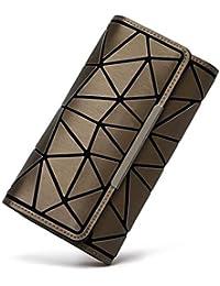 reputable site f1afa 10fc3 WeoHau Brieftasche Mode Geometrische Design Damen Lange Brieftasche Lässige  Kupplung Tasche Geldbörse