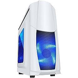 Fierce TERRA 8 Gaming PC - Veloce 2 x 3.8GHz Dual-Core AMD A-Series 9500, 1TB Disco Rigido, 8GB di 2133MHz DDR4 RAM / Memoria, AMD Radeon R5 Grafica Integrata, Gigabyte Ultra-Durable GA-A320M-S2H Scheda Madre, CiT Dragon Bianco Cassa/Blu Ventilatore, HDMI, USB3, Wi - Fi, Entrata perfetta nei giochi per PC, Finestre non Incluso, 3 Anni Di Garanzia 220117