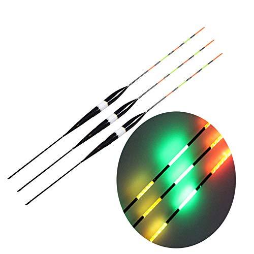 3pcs / Lot elektronische Fischerei-Float Balsaholz Nachtsicht-Elektro-Licht Float ohne Batterie Float Angelausrüstung, 2