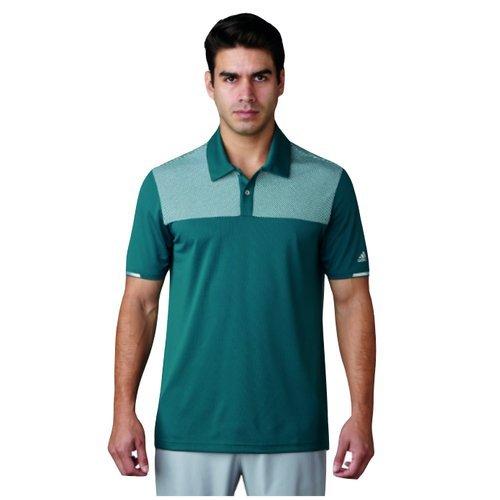 adidas Climachill Heather Block Competition Shirt Polo-Shirt Golf, Mann S grün Preisvergleich