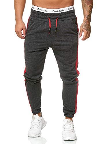 OneRedox Herren Jogging Hose Jogger Streetwear Sporthose Modell 1211 (L (Fällt eine Nummer Kleiner aus), Antra)