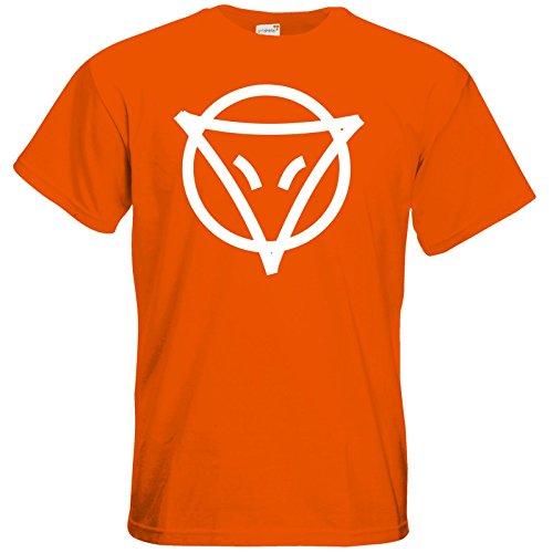 getshirts - Das Schwarze Auge - T-Shirt - Götter - Symbole - Phex Orange