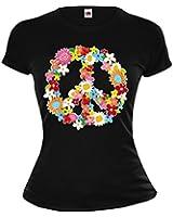 Girlie T-Shirt Peace-Flower-Symbol
