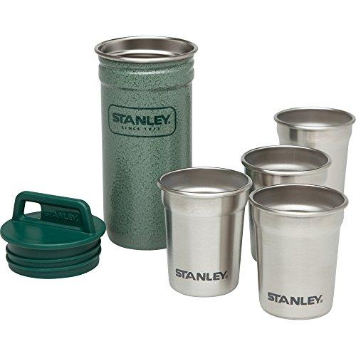 Stanley Trinkbecher Adventure Packable Shot Glasses Set - Frasco, color verde, talla standard width=