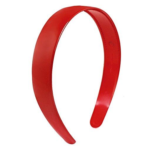 SODIAL(R) Dames plastique rouge Dent Boucle Bandeau cheveux Ornement
