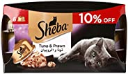 Sheba Tuna and Prawn Cat Food - 6 x 80 gm