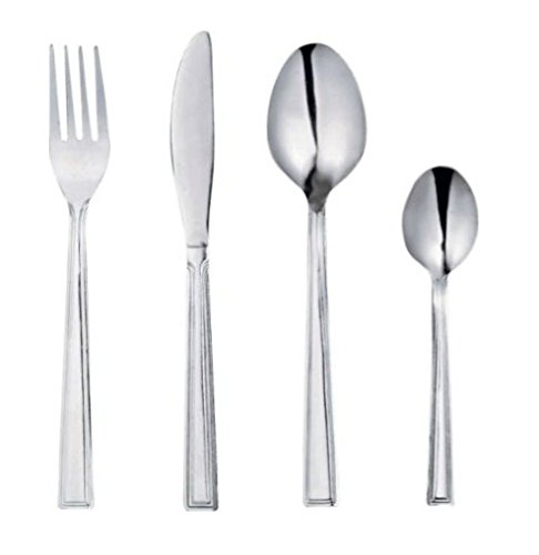 24 Piece Venice Cutlery Set - 6 place settings comprising 6 knives, 6 forks, 6 dessert spoons, 6 teaspoons