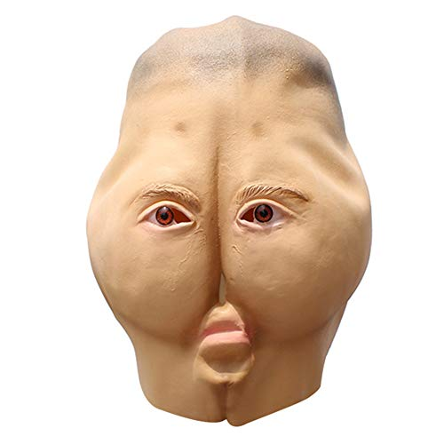 Hintern Baby Kostüm - koiry Latex Hintern Maske Halloween Party Maskerade Kostüm Cosplay Parodie Lustig Gruselig